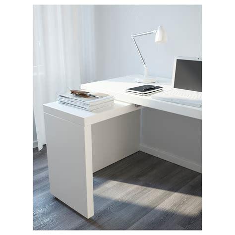 tablette bureau malm bureau avec tablette coulissante blanc 151x65 cm ikea