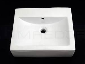 Waschbecken Ohne Wasseranschluss : design waschtisch quadro 5145 52cm wei ohne hahnloch ~ Markanthonyermac.com Haus und Dekorationen