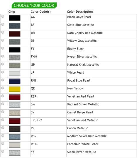 hyundai paint color codes hyundai paint color codes paint color ideas