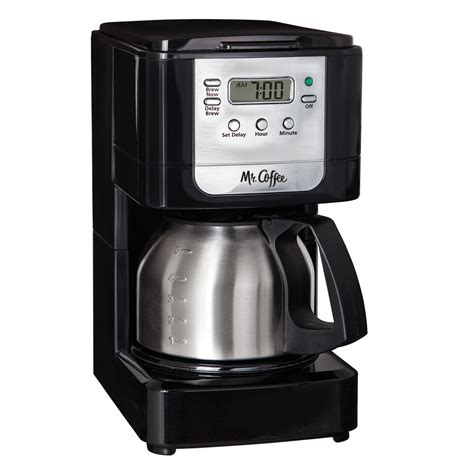 Mr. Coffee® Advanced Brew 5 Cup Programmable Coffee Maker with Stainless Steel Carafe Black