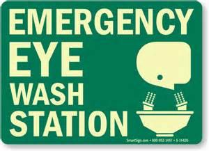 """Emergency Eyewash Station Sign, Emergency Eyewash Sign, 14""""x10"""""""