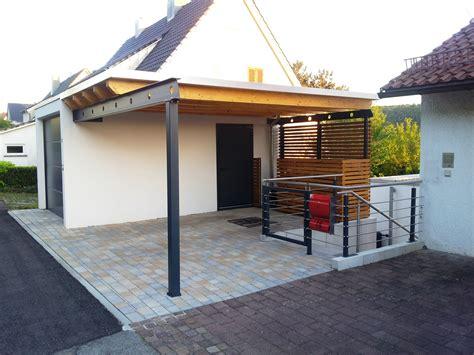 carport mit dachbegruenung rhombus wandverkleidung