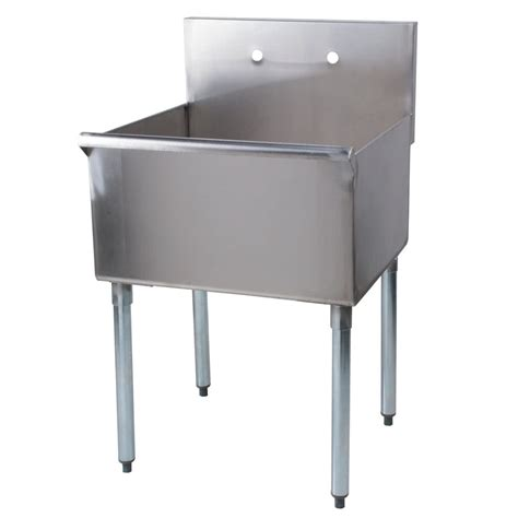 one compartment stainless steel sink regency 24 quot 16 gauge stainless steel one compartment