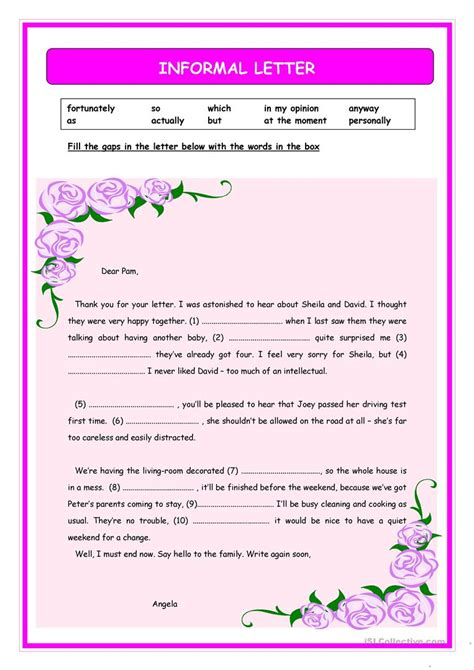 informal letter penn working papers