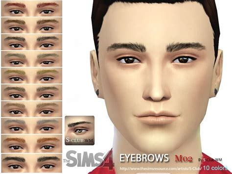 eyebrows for you 10 colors inside enjoy it found in tsr category sims 4 hair