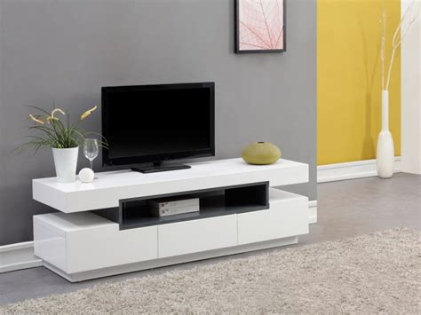 ranger sa chambre meuble tv muni d 39 une niche et de 3 tiroirs de rangement en
