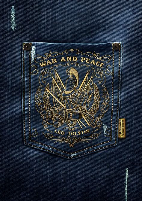 classic book covers embroidered  jean pockets  saulo filho
