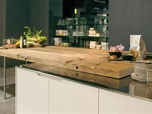 Plan De Travail Cuisine En Bois : plan de travail cuisine en bois brut maison et mobilier ~ Melissatoandfro.com Idées de Décoration