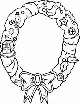 Coloring Christmas Wreath Pages Wreaths Decorations Clipart Door Template Print Cliparts Clip Xmas Printables Printactivities Popular Coloringhome Sketch Comments sketch template
