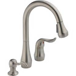 shop peerless stainless 1 handle pull kitchen faucet at lowes