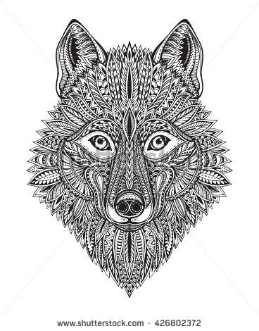 wolf face stock images royalty  images vectors