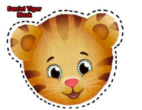 Daniel Tiger Pumpkin Cut Out free tiger mask template coloring pages