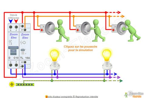 schema bouton poussoir sch 233 ma t 233 l 233 rupteur sch 233 ma 233 lectrique interactif d un t 233 l 233 rupteur unipolaire