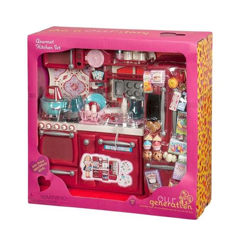 our generation kitchen set our generation gourmet kitchen set cooking dolls playset
