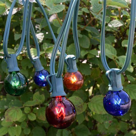 25 multi color globe string lights lights