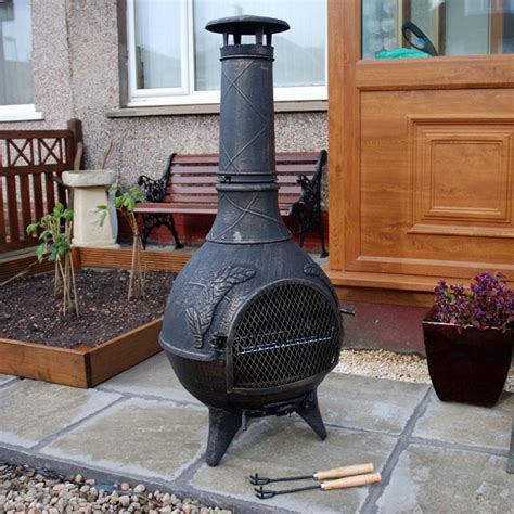 Chiminea Clay Or Iron - customer reviews for cast iron chiminea greenfingers