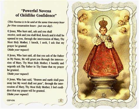 Infant Of Prague Linen Prayer Card