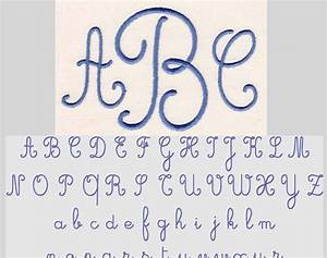 Sweet Thangs Sewing Fonts: Cursive Monogram