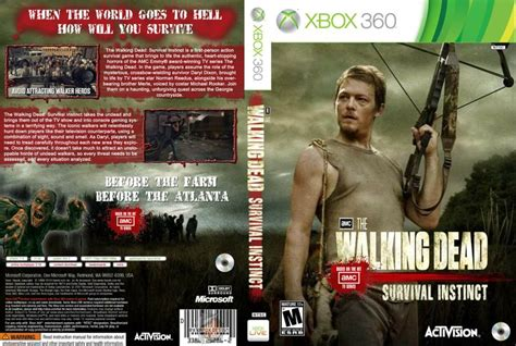Walking Dead Xbox Game Jogos Capa The Walking Dead
