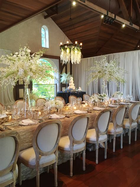 charles krug winery white wedding reception fleurs de france