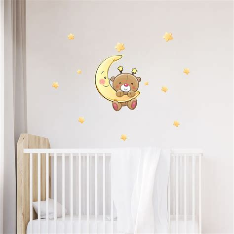 stickers chambre bébé ourson sticker ourson va dormir stickers chambre enfants