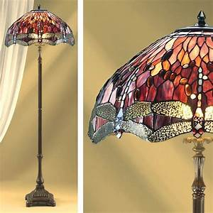 red dragonfly tiffany floor lamp premier lighting With tiffany floor lamp repair