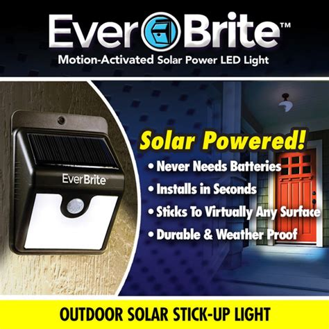 everbrite solar power porch light as seen on tv
