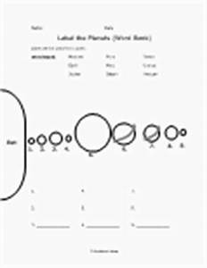 Free Printable Solar System Worksheets (page 2) - Pics ...