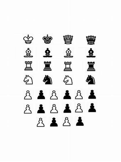 Chess Pieces Games Printable Board Template Paper