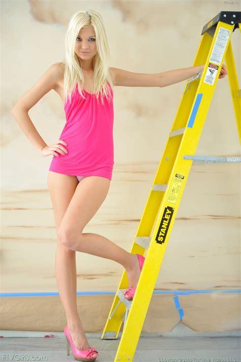 Franziska Facella On Ladder Redbust