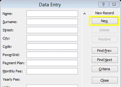 free excel test excel data forms excel 2010