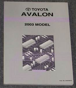 2003 Toyota Avalon Electrical Wiring Diagram Service