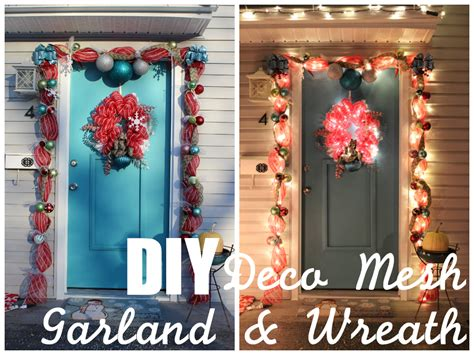 how to make mesh garland with lights lola tangled how to make your own deco mesh door garland