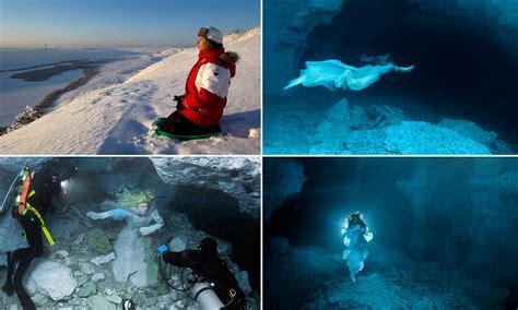 real life lady   lake russian swimmer  deep
