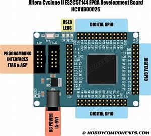 Altera Cyclone Ii Es2c5t144 Fpga Dev Board  Hcdvbd0026