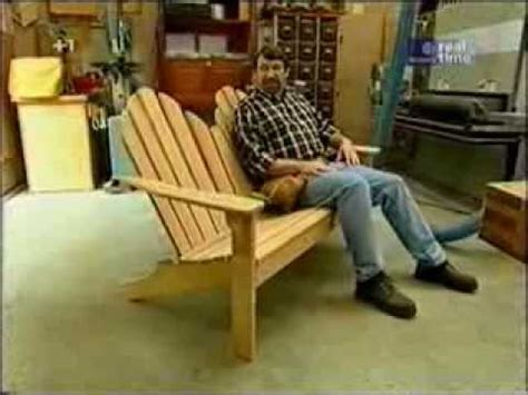 how to build an adirondack seat