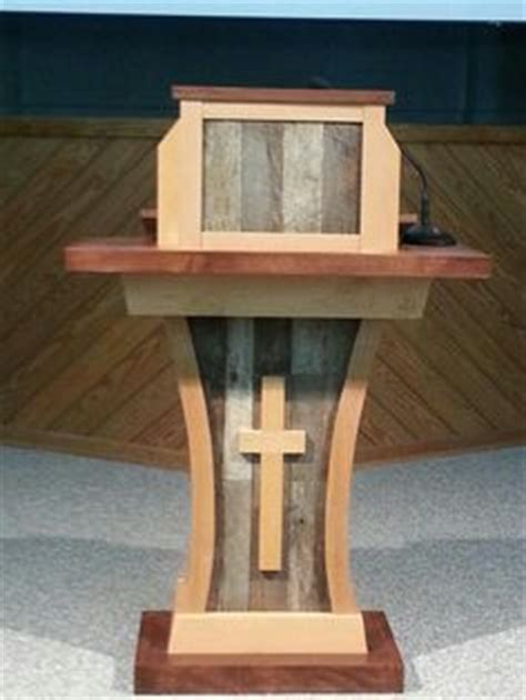 antique oak altar church pulpit podium lectern