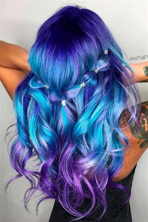 And Blue Hairstyles by 30 Trendy Styles For Blue Ombre Hair Magical Hair Colors