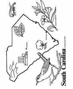 South Carolina State outline Coloring Page