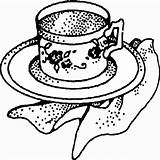 Coloring Pages Tea Party Site Rosh sketch template
