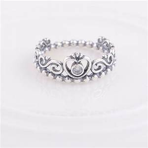 authentic 925 sterling silver my princess queen crown ring With crown design wedding rings