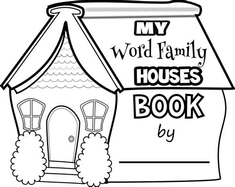 word family houses book word family worksheets word
