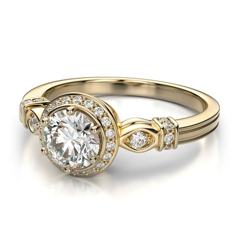 gold engagement rings for vintage yellow gold wedding rings ipunya