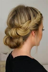 Coiffure Mariage Facile Cheveux Mi Long : beaucoup d 39 id es diy pour une coiffure de soir e facile ~ Nature-et-papiers.com Idées de Décoration