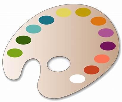 Palette Paint Clipart Clip Painting Cliparts Palate