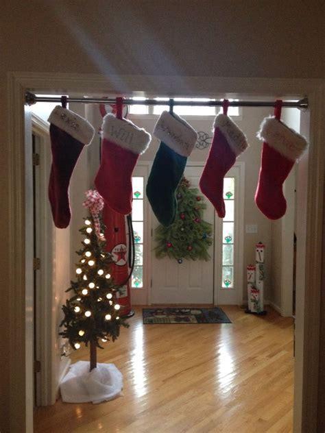 stocking hanger ideas  pinterest christmas