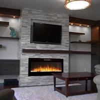 built in electric fireplace Regal Flame Fusion 50 Inch Built-in Ventless Heater Recessed Wall Mounted Electric Fireplace ...