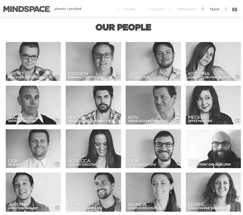 cool  creative staff pages net features website