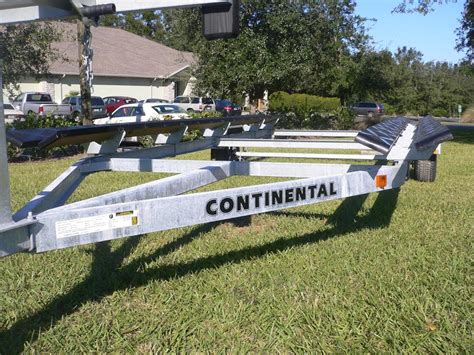 Pontoon Boat Without Trailer by Continental Ctp2016 Galvanized Pontoon Trailer Gulf To