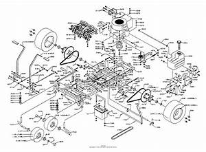 Dixon Ztr 304  1991  Parts Diagram For Chassis Assembly